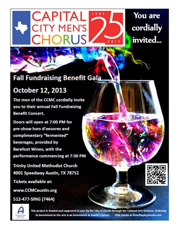 2013 Fall Fundraiser poster